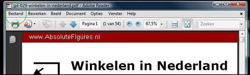 Bestand opslaan in Adobe Reader